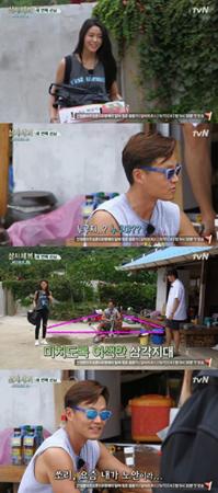 韓国ガールズグループ「AOA」メンバーのソリョンが、人気バラエティー番組「三食ごはん」に登場した。(提供:OSEN)