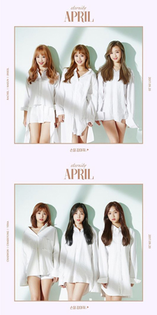 韓国ガールズグループ「APRIL」のニューアルバム「eternity」のタイトル曲が明らかになった。(提供:OSEN)