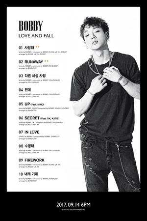 韓国ボーイズグループ「iKON」メンバーのBOBBYが、自作曲10曲を収録したデビューしてから初となるソロアルバムを発表する。(提供:OSEN)