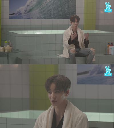 """韓国ボーイズグループ「Highlight」メンバーのイ・ギグァンが、""""大衆浴場ライブ""""を配信した。(提供:news1)"""