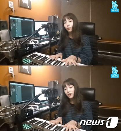 韓国ガールズグループ「DIA」メンバーのジュウンが、ファンと交流を深めた。(提供:news1)