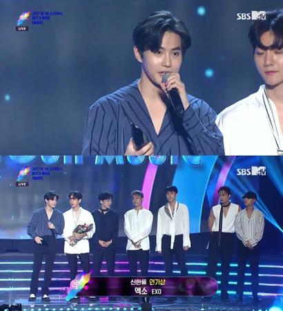 韓国ボーイズグループ「EXO」が、人気賞を受賞した。(提供:news1)