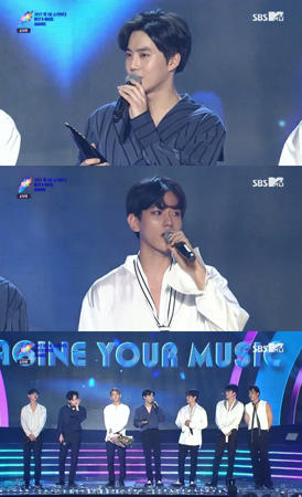 韓国ボーイズグループ「EXO」が、大賞を受賞した。(提供:news1)