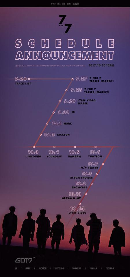 「GOT7」、10月10日に新譜「7 for 7」発表…カムバックスケジュール公開! (提供:OSEN)