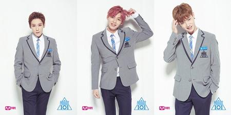 韓国Mnet「プロデュース101(PRODUCE 101)シーズン2」出身の練習生パク・ウダム(22)、ウ・ジンヨン(20)、チョ・ヨングン(22)が「MIX NINE」に出演する。(提供:news1)
