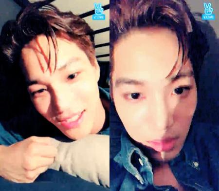 韓国ボーイズグループ「EXO」メンバーのKAIがファンと交流を深めた。(提供:OSEN)