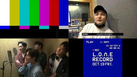 「NU'EST W」が公式YouTubeチャンネルを通じて、映像コンテンツ「L.O.Λ.E RECORD」のティーザーを公開した。(提供:OSEN)