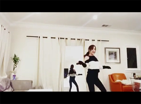 """T.O.Pと大麻吸煙""ハン・ソヒ、「PLAYING WITH FIRE」(BLACKPINK)のダンス映像公開(Instagramより)"