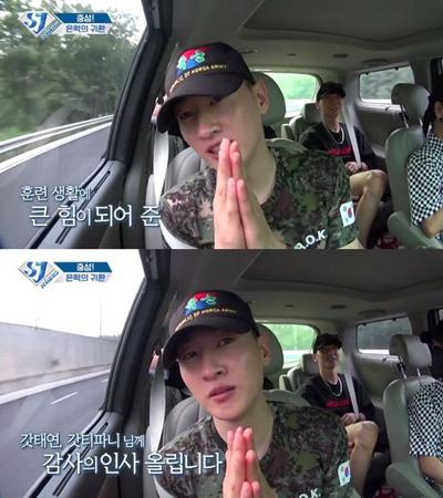 韓国ボーイズグループ「SUPER JUNIOR」メンバーのウニョクが、ガールズグループ「少女時代」のメンバーに感謝の気持ちを伝えた。(提供:OSEN)