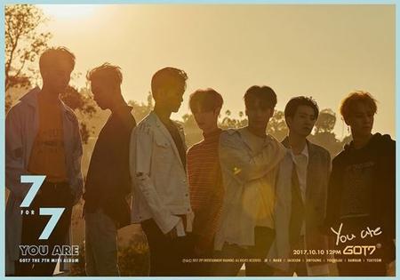 韓国ボーイズグループ「GOT7」が、ニューアルバム「7 for 7」のショーケースを開催する。(提供:OSEN)