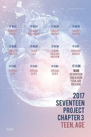 韓国ボーイズグループ「SEVENTEEN」が、2ndアルバムのプロモーションタイムテーブルを公開した。(提供:OSEN)