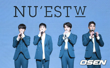 最近の歌謡界で最もホットな「NU'EST W」。(提供:OSEN)