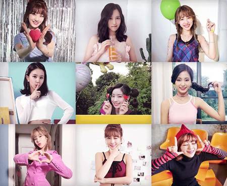 韓国ガールズグループ「TWICE」が、新曲「Likey」のMOVING PHOTOティーザーを公開した。(提供:OSEN)