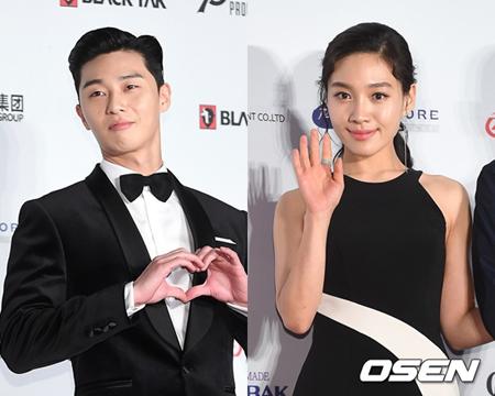 韓国俳優パク・ソジュンと女優チェ・ヒソが、新人賞を受賞した。(提供:OSEN)