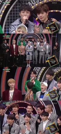 一時は同じ事務所の先輩後輩だった韓国ボーイズグループ「Highlight」と「BTOB」が音楽番組で1位争いをすることになった。(提供:OSEN)