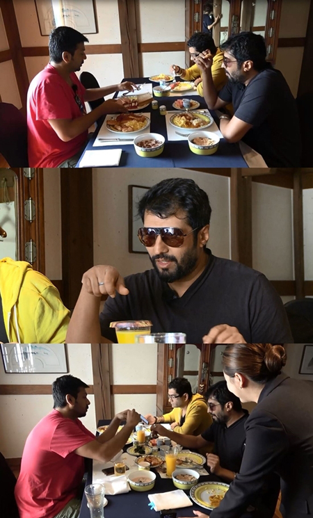 """バラエティ「いらっしゃい韓国」に出演""""インドのF4""""、韓国での朝食に大満足(提供:news1)"""