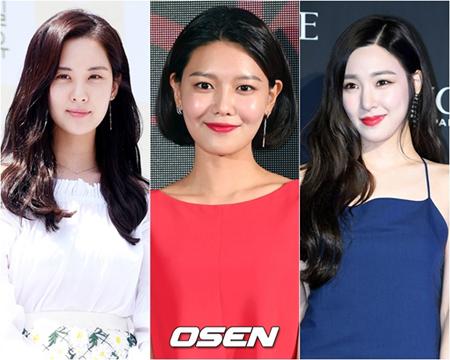 韓国ガールズグループ「少女時代」を脱退したメンバーたちの芸能生活第2幕を本格的に始めるようだ。左からソヒョン、スヨン、ティファニー(提供:OSEN)