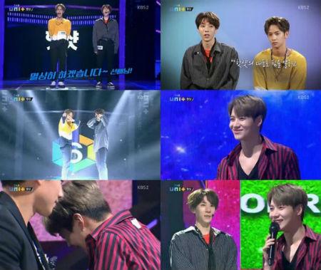 KBSアイドル再起プロジェクト「THE UNIT」で、「SHINee」テミンと「HOTSHOT」キム・ティモテオが長年の友情を示した。(提供:OSEN)