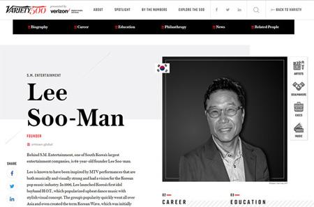 SMエンタのイ・スマン代表、米「世界の影響力あるリーダー500」に選定(提供:news1)