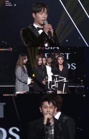 韓国ガールズグループ「MAMAMOO」、歌手ファン・チヨル、Crunsh、俳優ソ・ガンジュンが、ベストアイコン賞を受賞した。(提供:news1)