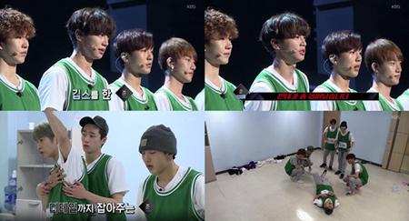 韓国ボーイズグループ「U-KISS」メンバーのジュンが、アイドル再起プロジェクト番組「THE UNIT」の練習中に足首を負傷した理由が公開された。(提供:OSEN)