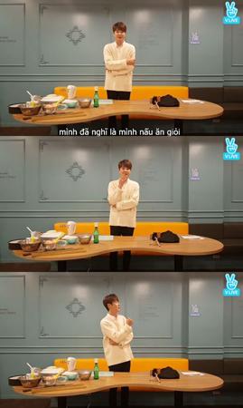 韓国ボーイズグループ「SHINHWA」メンバーのシン・ヘソンが、料理に再挑戦した。(提供:OSEN)