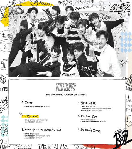 「THE BOYZ」、タイトル曲は「Boy」=メンバーのソヌが作詞に参加& Primaryが援護射撃(提供:news1)