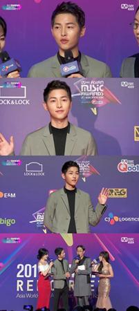 韓国俳優ソン・ジュンギが、「2017MAMA」で「新婚を楽しむことも大事だ」と語った。(提供:OSEN)