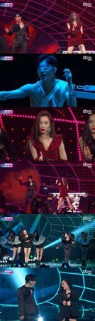 韓国ボーイズグループ「SHINee」メンバーのテミンと、ガールズグループ「Wonder Girls」元メンバーのソンミが、セクシーな魅力を放った。(提供:OSEN)