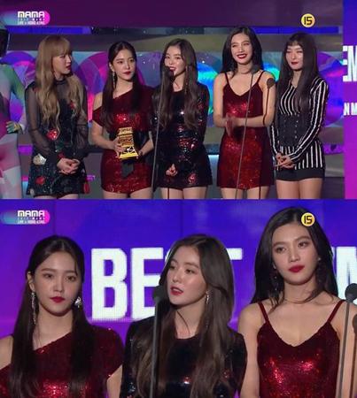 韓国ガールズグループ「Red Velvet」が、ガールズグループ賞を受賞した。(提供:OSEN)