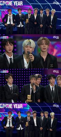 韓国ボーイズグループ「防弾少年団」が、「2017MAMA In Hong Kong」で大賞を受賞した。(提供:OSEN)