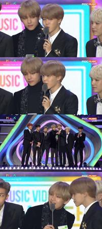 韓国ボーイズグループ「防弾少年団」が、ミュージックビデオ賞を受賞した。(提供:news1)