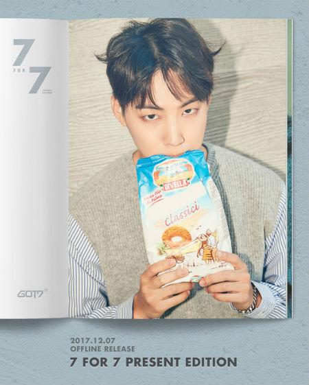 7日に発売される「GOT7」のスペシャルアルバム「7 FOR 7 PRESENT EDITION」。個人ティーザーが公開され、JBのイメージが公開された。(提供:OSEN)