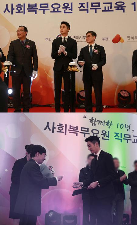 俳優チョン・イル、誠実な軍生活が認められ「優秀軍服務要員長官賞」を受賞(提供:news1)