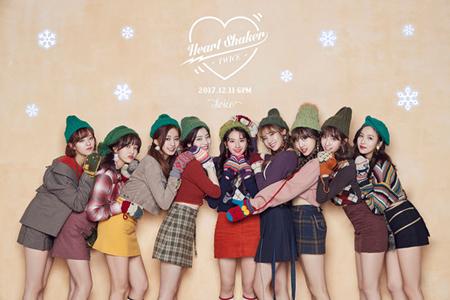 韓国ガールズグループ「TWICE」が、新曲「Heart Shaker」で7作連続のヒットに成功した。(提供:OSEN)