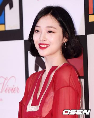 韓国女優ソルリ(23)が、韓国人が一番多く検索した人物に選ばれた。(提供:OSEN)