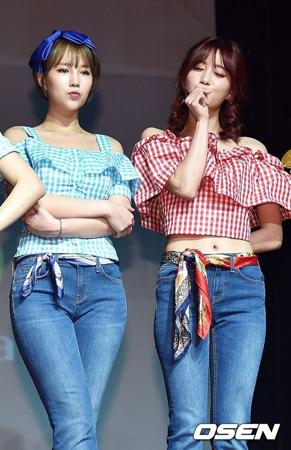 韓国ガールズグループ「TAHITI」メンバーのミソが、脱退したジスへの怒りをぶつけた。(提供:OSEN)