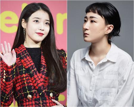 韓国歌手IUがソヌ・ジョンアの新曲にフィーチャリングすることがわかった。(提供:OSEN)