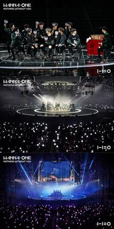 韓国アイドルグループ「Wanna One」が大規模ファンミーティング「WANNA-ONE PREMIER FAN-CON」をソウルで成功裏に開催した。(提供:OSEN)