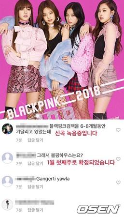 YGのヤン代表は22日、自身のSNSで2018年1月に「iKON」、2月に「WINNER」の新曲発売を明らかにしたのに続き、「BLACKPINK」についての計画も公開した。(提供:OSEN)