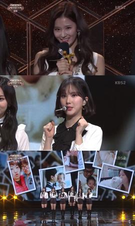 韓国ガールズグループ「TWICE」メンバーのサナが、「GFRIEND」ウナのためにサプライズイベントをおこなった。(提供:OSEN)