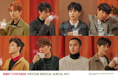 人気グループ「EXO」が冬のチャートを占領した。(写真提供:OSEN)