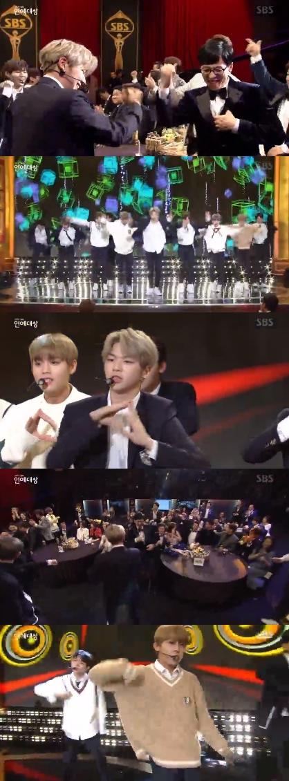 「2017 SBS芸能大賞」で、「Wanna One」が祝賀ステージを飾った。(提供:OSEN)