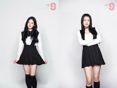 韓国総合編成チャンネルJTBCのオーディション番組「MIXNINE」に出演しているFAVEエンターテインメント所属のイ・スジン(写真左)が、番組を降板することになった。(提供:OSEN)