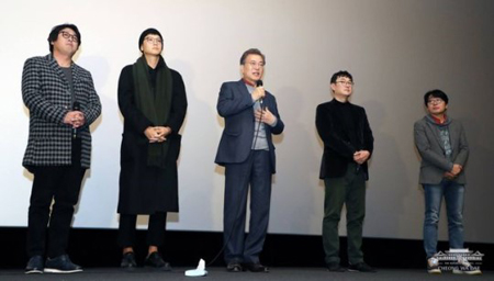 文大統領&カン・ドンウォンの力、追い風に… 映画「1987」が1位を死守(提供:OSEN)