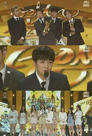 「第32回ゴールデンディスク授賞式」で韓国ボーイズグループ「BIGBANG」と「WINNER」、ガールズグループ「TWICE」が本賞を受賞した。(提供:OSEN)