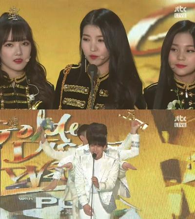 「第32回ゴールデンディスク授賞式」で韓国ボーイズグループ「BTOB」とガールズグループ「GFRIEND」がベストグループ賞を受賞した。(提供:news1)