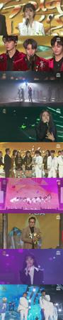 韓国歌手IU(アイユー)が、「第32回ゴールデンディスク授賞式」で音源部門の大賞を受賞した。(提供:news1)