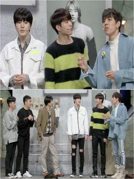 "tvN「コメディビッグリーグ」の新年最初のゲストとして、""万能アイドル""「INFINITE」が出演し、知られざるギャグセンスをアピールする。(提供:OSEN)"