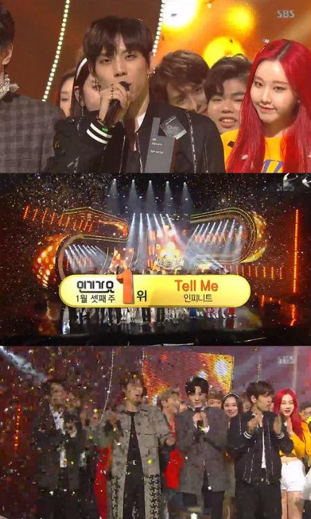 「INFINITE」が「人気歌謡」で1位を獲得した。(提供:OSEN)